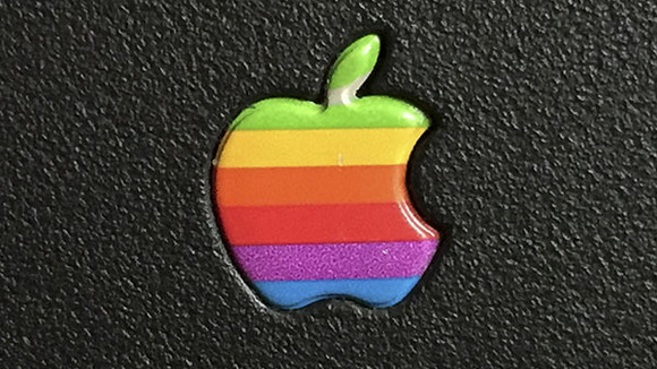 Apple Logo retro