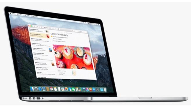 OS X El Capitan en MacBook