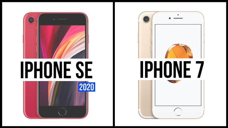 comparativa iphone se 2020 iphone 7