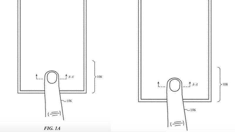 iphone under screen touch id patent