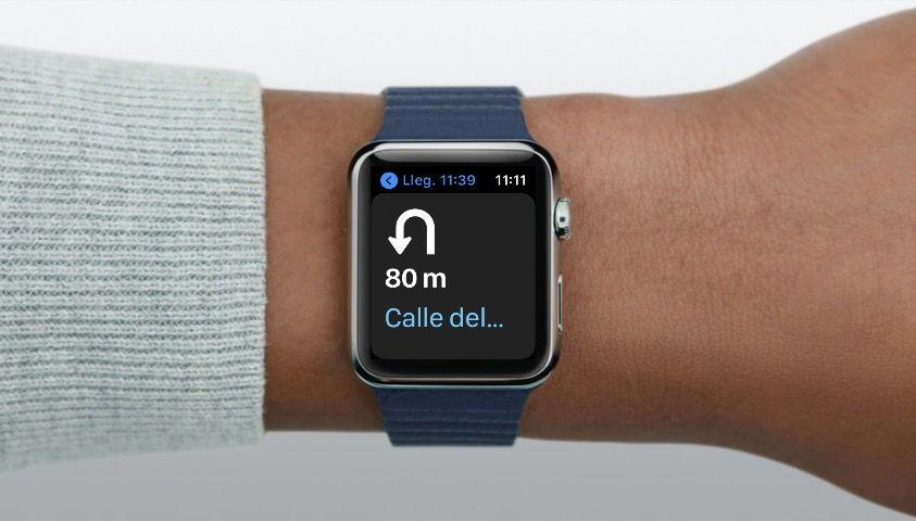 Apple Watch con Mapas giros