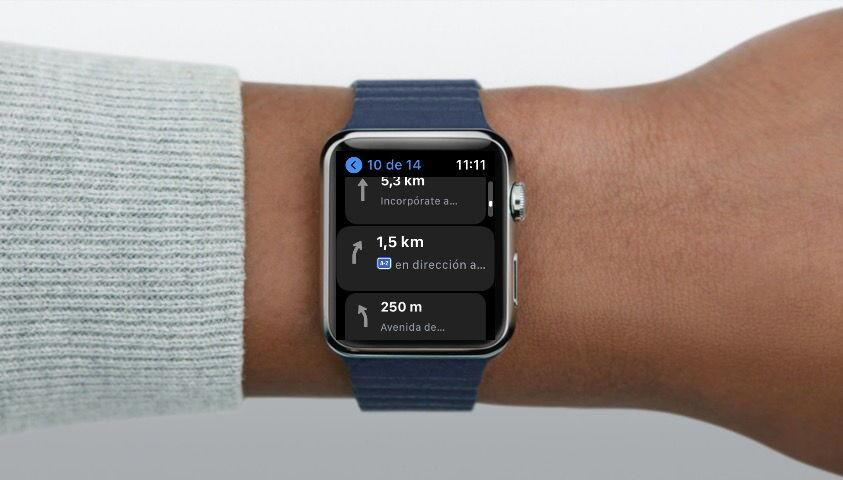 Apple Watch con Mapas indicaciones