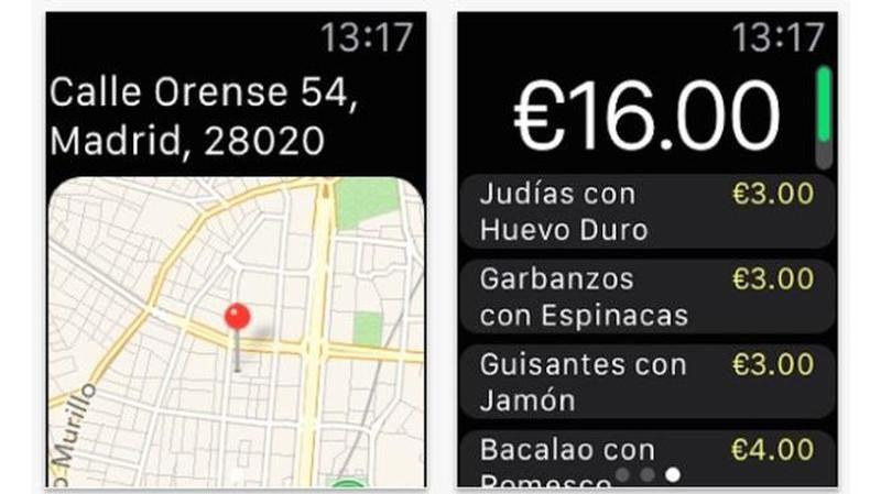apple watch justeat