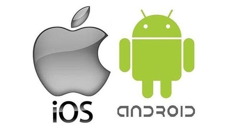 android and ios logo